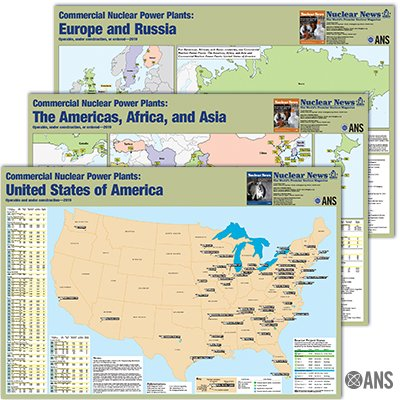 #New ! Updated for 2019: The reactor maps series. Find it on the ANS Store. The series includes 3 maps available for purchase: USA, #Europe  & #Russia , and The Americas, #Africa , & #Asia  (includes #Canada , #Mexico , South America).  https://zcu.io/VEIq    #nuclear  #energy  #reactors