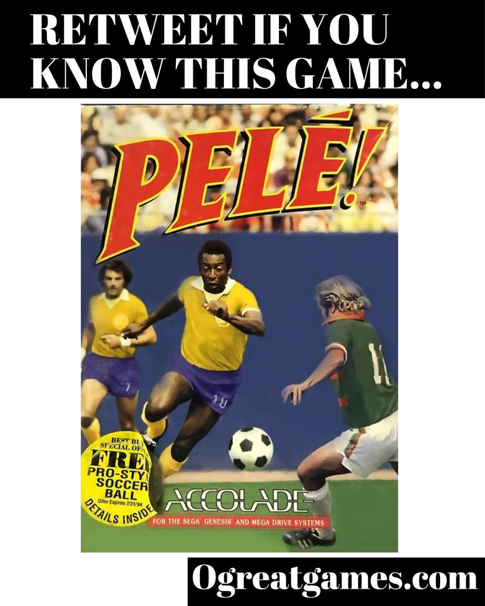 Retweet if you know of Pele!!  https://ogreatgames.com/products/pele   #rt  #segagenesis  #gaming  #videogames  #soccer