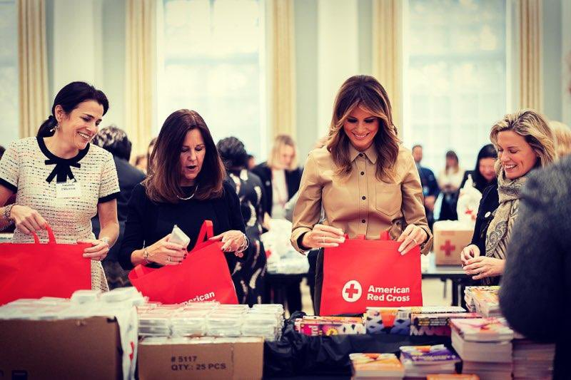 It was an honor to return to the  @RedCross today with  @SecondLady to assemble comfort kits for troops stationed overseas this holiday season. Thank you to all of our military for the sacrifices you make for our country!