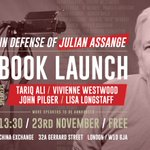 Vivienne Westwood and Lisa Longstaff have joined the book launch panel. They will both be speaking this Saturday afternoon!  More tickets are now available. Book here: https://t.co/np6RdbpJXu  @WikiLeaks @FollowWestwood @AgainstRape @TariqAli_News @johnpilger