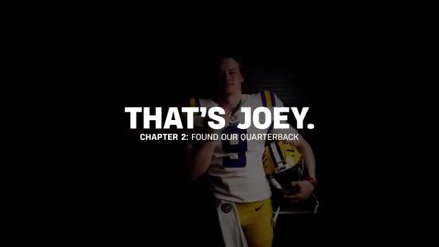 That's Joe. Chapter 2: Found Our Quarterback
