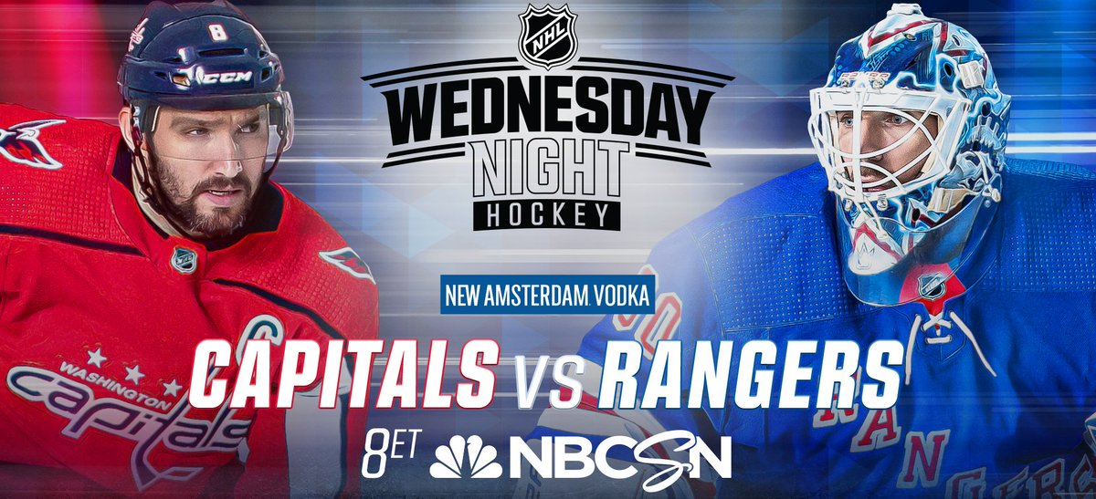 Wednesday evening on the NHL ice: Washington #Caps invade Madison Square Garden in New York to rumble with the #NYRangers @ 8:00p ET, NBCS - http://pygy.co/Bmx