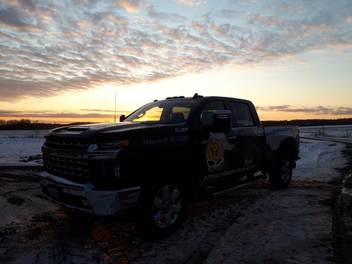 Adventures of the @beanchevbuickgm #OVFS20 farm show truck. Check out that view! #AgintheEast #ontag https://t.co/UnCO6lmXn9