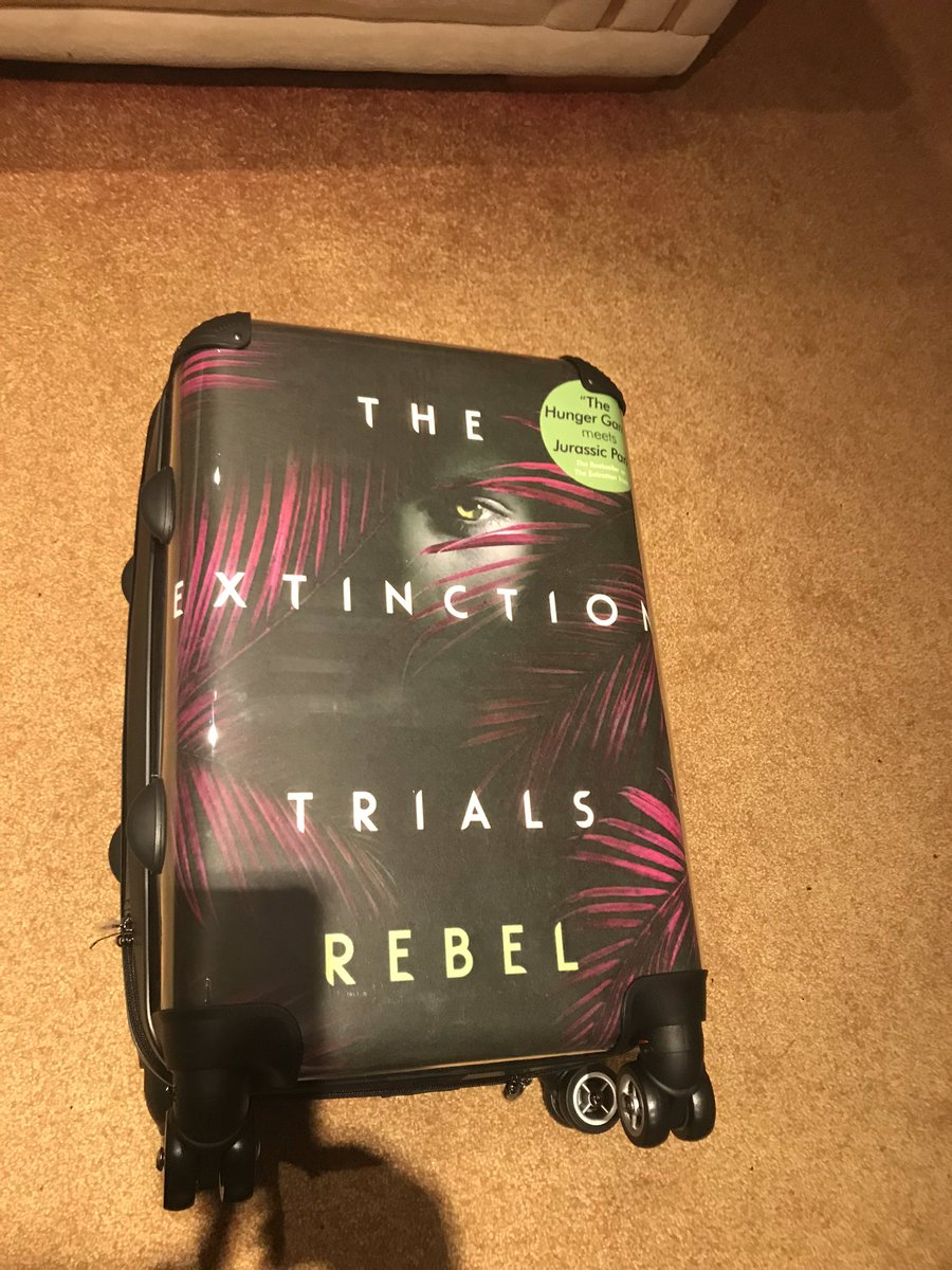 Christmas has come early in this household. Hubby bought me a suitcase with my book cover and three fleecy blankets! He's done well x