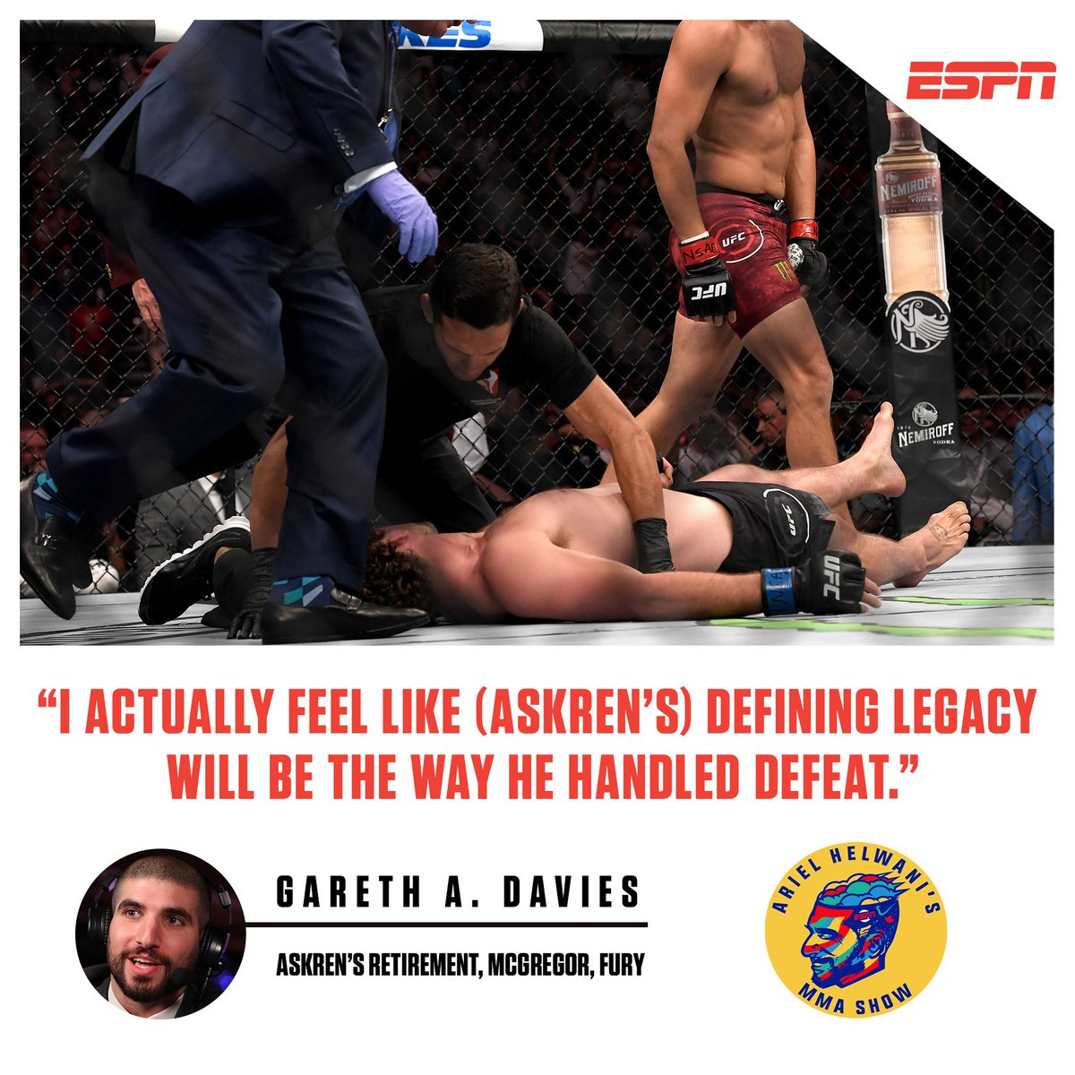 Today's podcast with @arielhelwani features the great @GarethADaviesDT for a conversation you do NOT want to miss.  LISTEN: https://es.pn/335XWv5