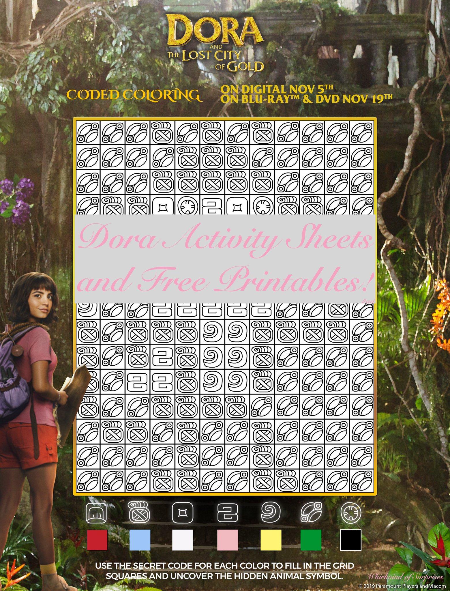 Free Dora Printables