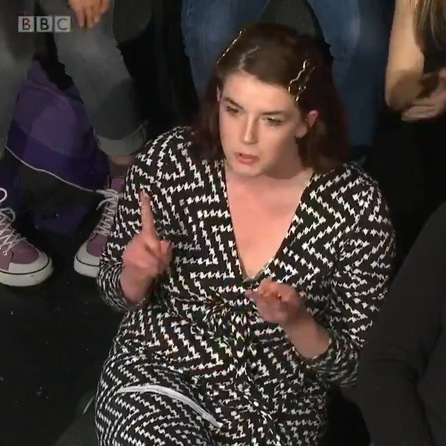 """""""There is one group in the world responsible for this climate emergency, it's the rich."""" Capitalism and wealth is hurting the environment, says this #bbcdn audience member."""
