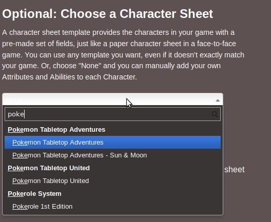 Andreas J On Twitter Somebody Updated The Roll20 Character Sheet For Pokerole This Week And If You Just Search For Poke On Available Character Sheets You Get A Bunch Of Options Don T