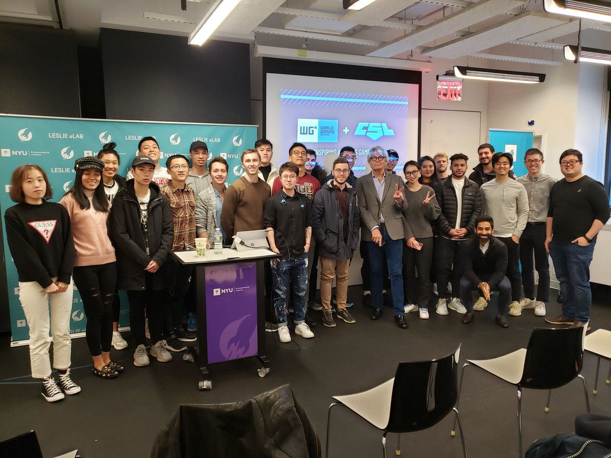 Thanks to @Wiiim for coming to guest lecture my Business of Esports and Entrepreneurship through Esports classes @nyutischsports today. Industry engagement is critical to educating the next wave of #esports business leaders. https://t.co/edKTM1Rup8