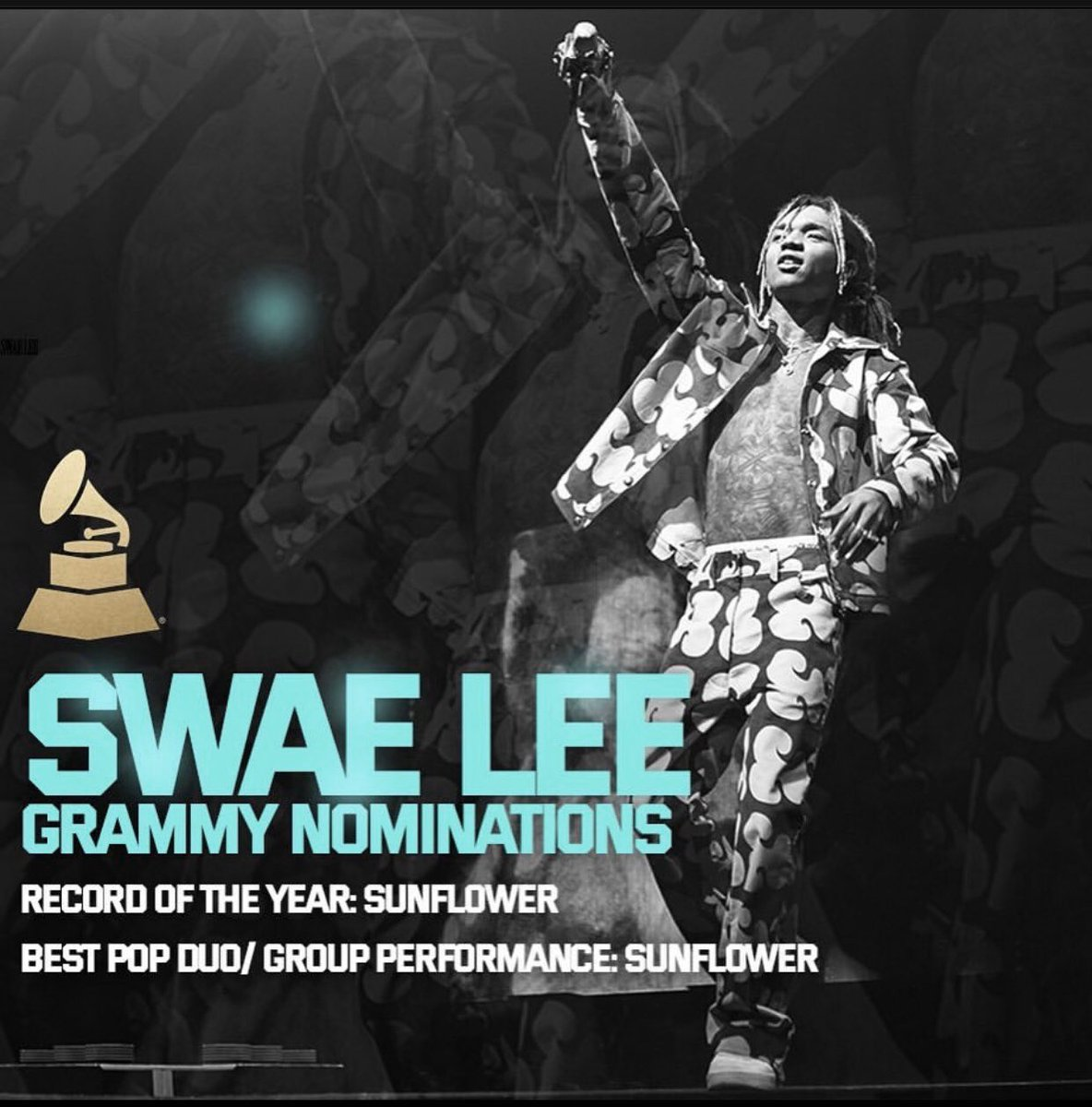 Woke up to this 🏆 thanks for the Grammy nominations