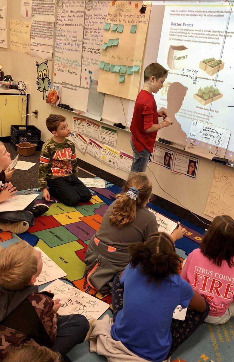 Sharing marvelous math thinking 🤔 #celebratelps @CitrusSchools