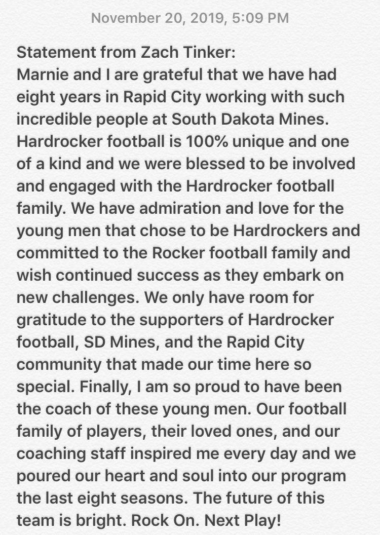 I have been honored to Coach Hardrocker Football. #NextPlay