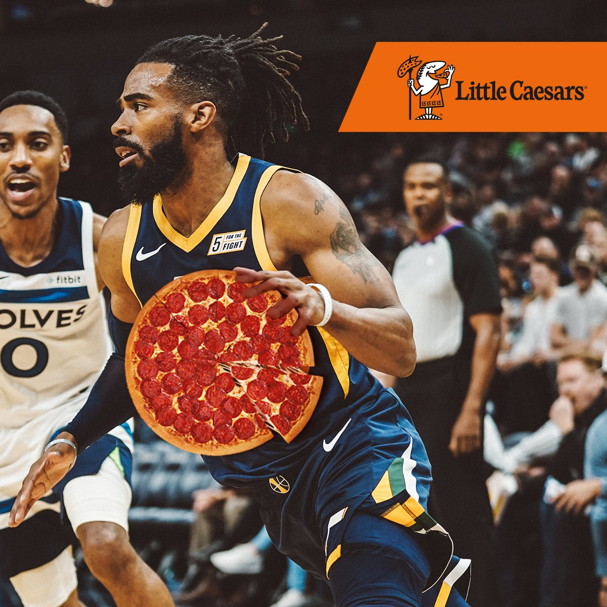 When #JazzWinYouWin!  Use the promo code UTAHJAZZ on the @LittleCaesarsSP mobile app to order one custom round multi-topping pizza the day after a Jazz win (TODAY - 11/21) & get a free Large EXTRAMOSTBESTEST Pepperoni Pizza.  🍕: http://bit.ly/2NuLQFO