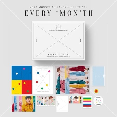 [PO] MONSTA X 2020 SEASON'S GREETINGS with STARSHIP Benefit  Price: IDR 690.000 (est. weight +/- 1,5kg) ✓ DP (minimal 375rb) / Full payment ✓ Pelunasan di Shopee  ⌛Deadline PO & payment: 25 November 2019