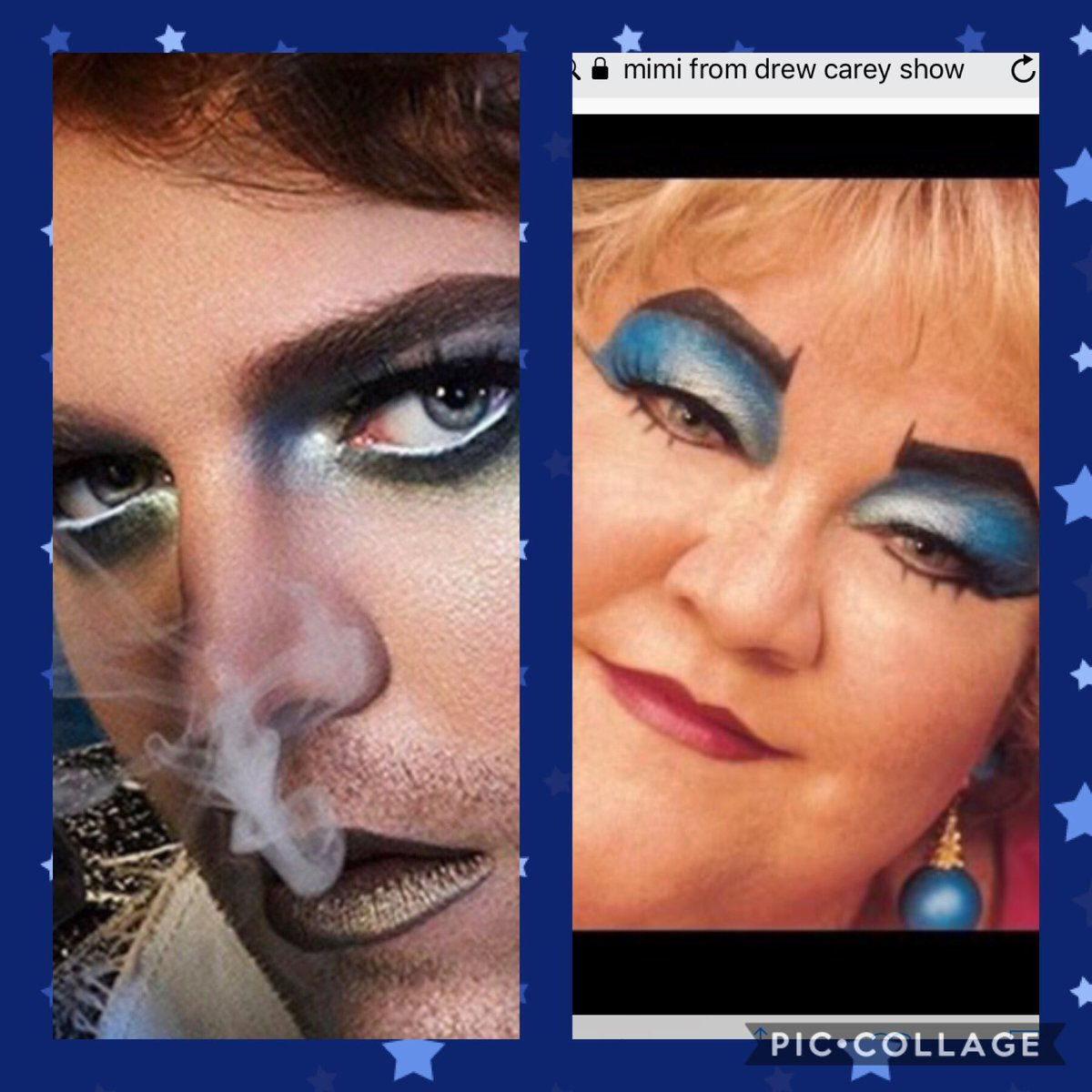 How I want to look with my mini controversy palette vs how I'm actually going to look....obviously I need more practice. @JeffreeStar @shanedawson #JeffreeStarCosmetics #ShanexJeffree #shanexjeffreebreaktheinternet