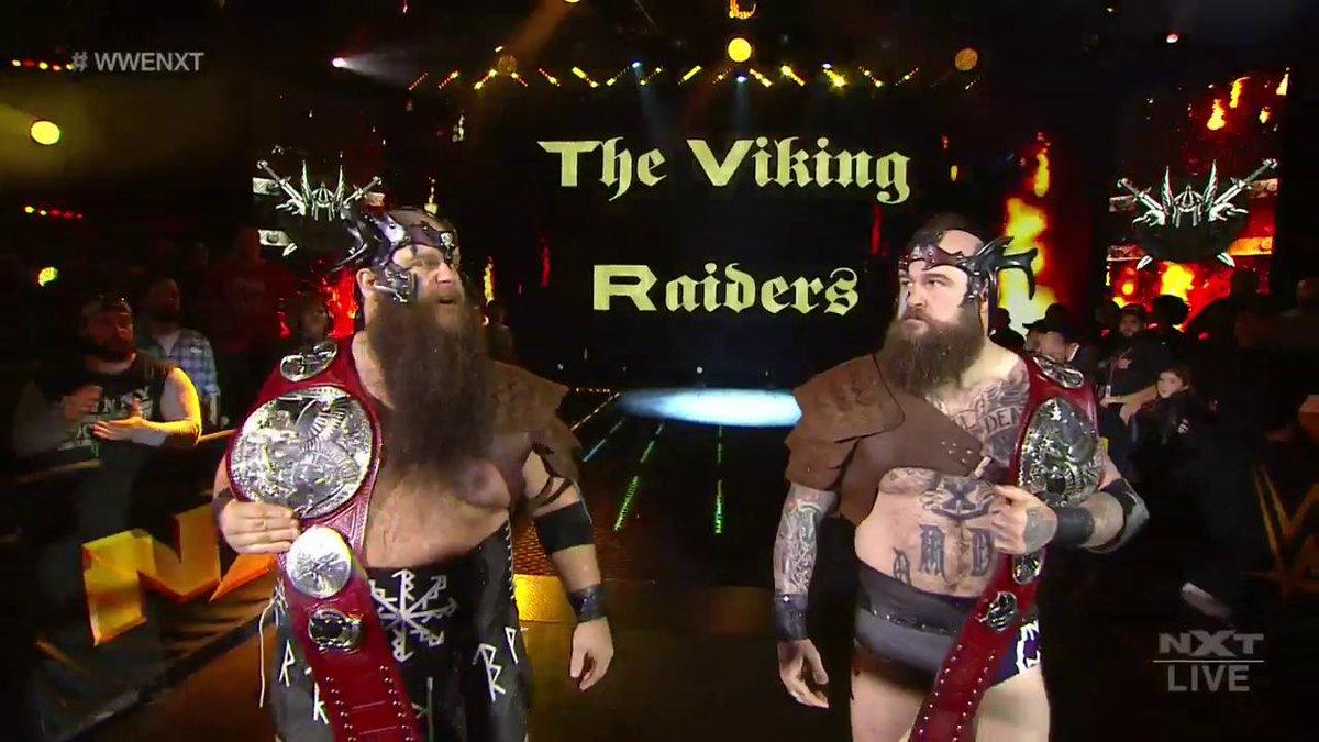 They're back. 🤘@Erik_WWE @Ivar_WWE #WWENXT