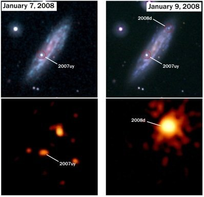 SN2008D: For the first time, Swift serendipitously caught a supernova explosion as it was happening ⭐️🧨🎇
