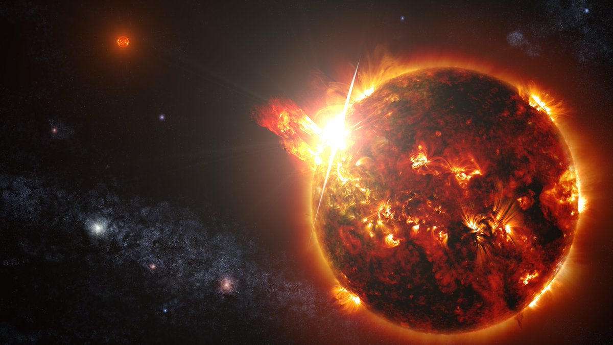 Mega-flares from a mini-star: Don't let the small size fool you, Swift caught a flare from a nearby red dwarf which was 10,000 times more powerful than anything we've observed from our sun! svs.gsfc.nasa.gov/11531