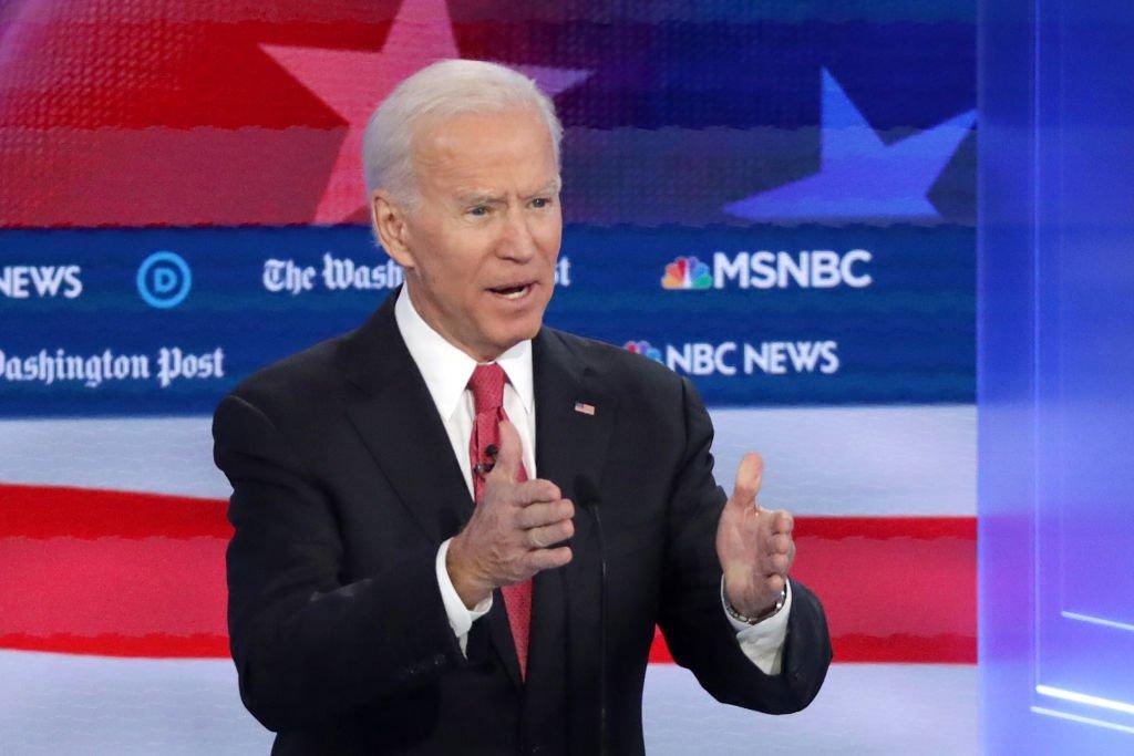 "Biden at the DemDebate: Trump has ""indicted himself"""