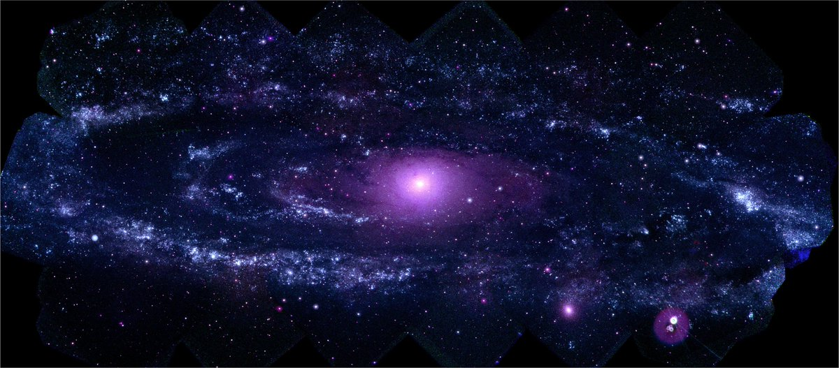 And of course Swift is much more than just GRBs and supernovae. Here are a few representative examples of some of the broad science the community is undertaking for #Swift15Science: Hot, young and blue stars sparkle in Swift's ultraviolet view of our neighbor the Andromeda galaxy