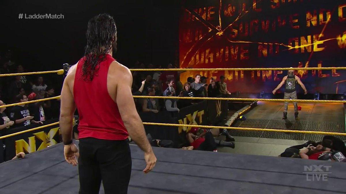 Hey, @WWERollins...Daddy's home. 😘@NXTCiampa #WWENXT
