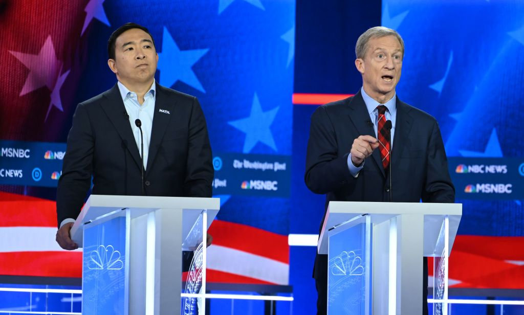 "Steyer at DemDebate: ""Climate change is the number one priority for me"""