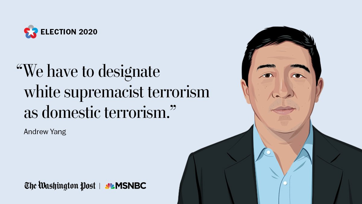 Andrew Yang was asked what he would do about white supremacist