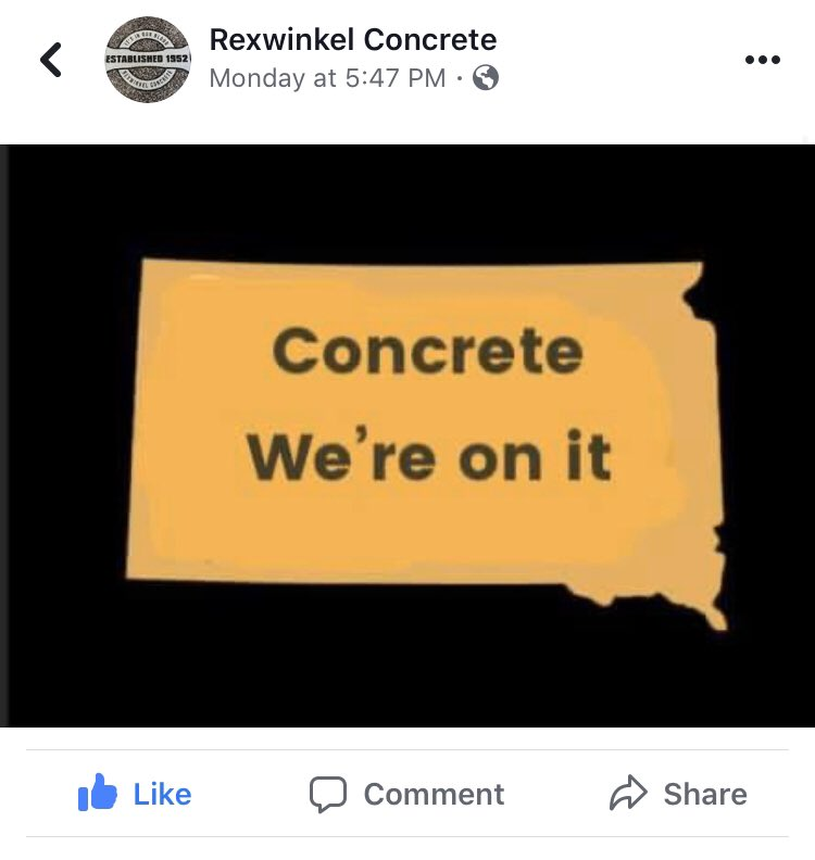 SD launched their meth awareness campaign and not even an hour later the Rexwinkel Concrete social media team (my dad) had this queued up.       The devil works hard, but Jamie Rexwinkel works harder. #rexcon