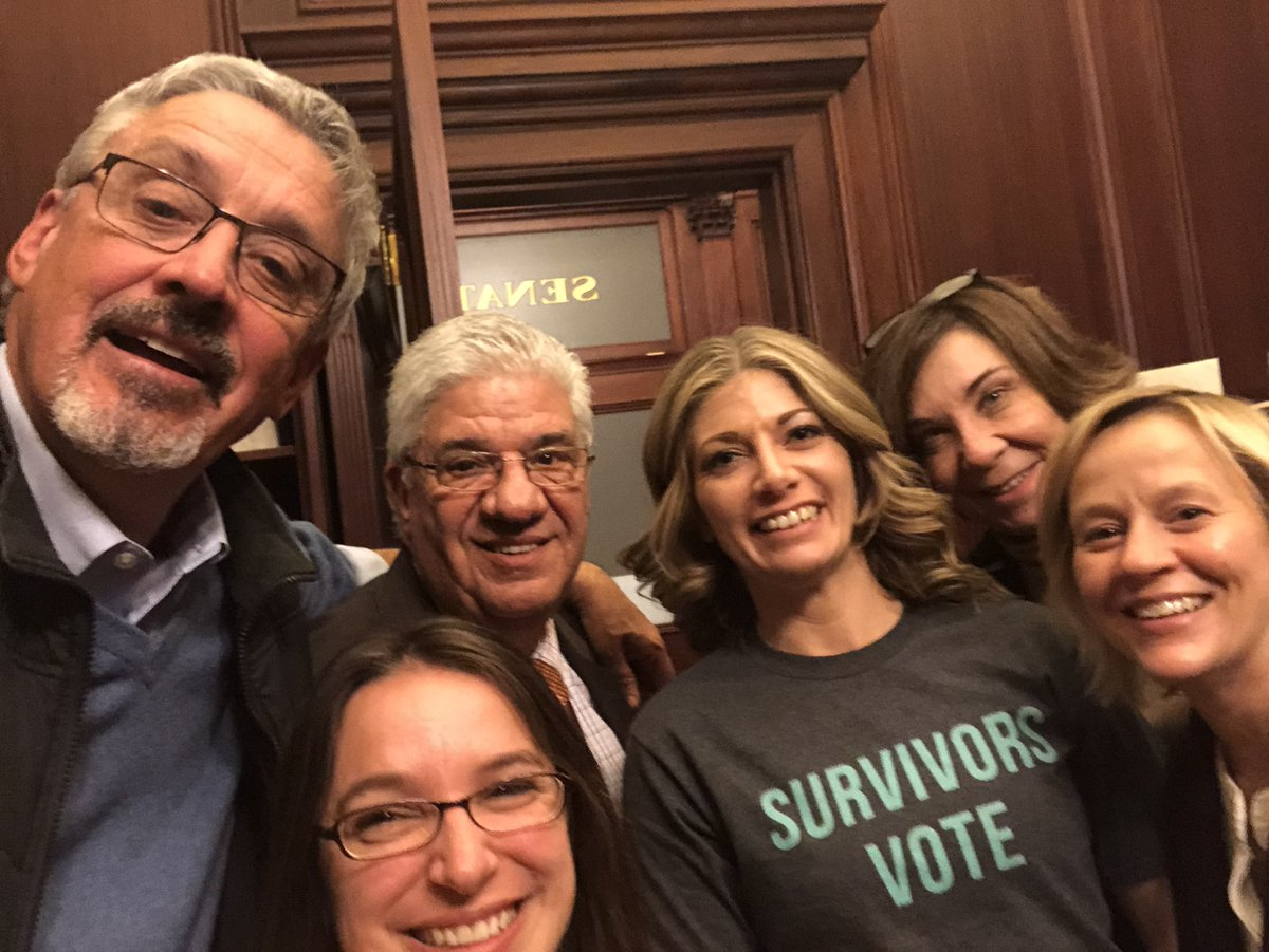 Thank you @PaSenateDems for fighting for true justice for all survivors.  Despite all R's voting ❌on all of our amendments that would've improved all the SOL bills, we aren't done fighting!  Survivors know the majority voted against them 3x tonight! #LeaveNoOneBehind #SB540 🇺🇸
