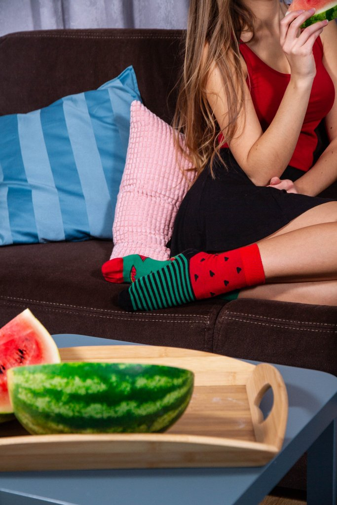 When food is your life, you even buy socks with it. 🍉👣swaggiesocks #swag #swaggie #socks #skarpetki #watermelon #food #delicious #life #red #green #photoofaday #longhair #fruit #musthave #polishgirl #girlfriend #home #house #skirt #christmasgift