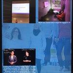Image for the Tweet beginning: HAMK Instagram and Twitter walls