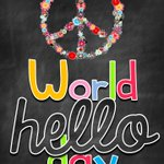 Image for the Tweet beginning: It's #WorldHelloDay today and at