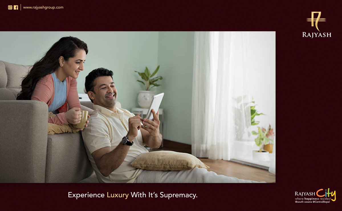 Life becomes supreme when the luxury you experience is premium. Experience the life less lived, experience just the best with us! . . . #Happiness #Lifestyle #Withus #Dreamlife #Rajyash #Rajyashgroup #Rajyashcity #Buildinglandmarks #Royalrajyash #RajyashLandmark