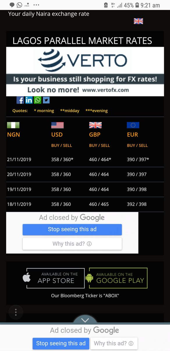 Exchange Rates As At Today November 21st, 2019. Contact me for your forex needs local and offshore. Have a successful day peeps! May the Lord Almighty bless our hustle and bustle!