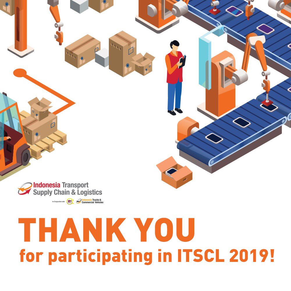 Thank you for coming to this year's ITSCL 2019.  ITSCL 2019, Brings Together All The Players in Logistics and Manufacturing Sectors.  See you in ITSCL 2020!  #ITSCL2019 #ITSCLexpo #ITSCL #TransportationID #LogisticsID #LogistikID https://t.co/JhUF52lHsd