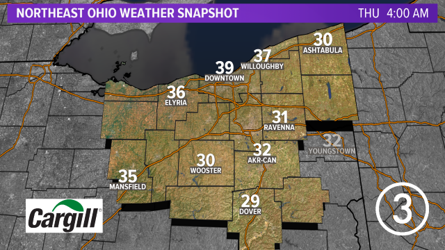 Weather Snapshot brought to you by @Cargill ... Find more forecast info at  #3weather #ohwx