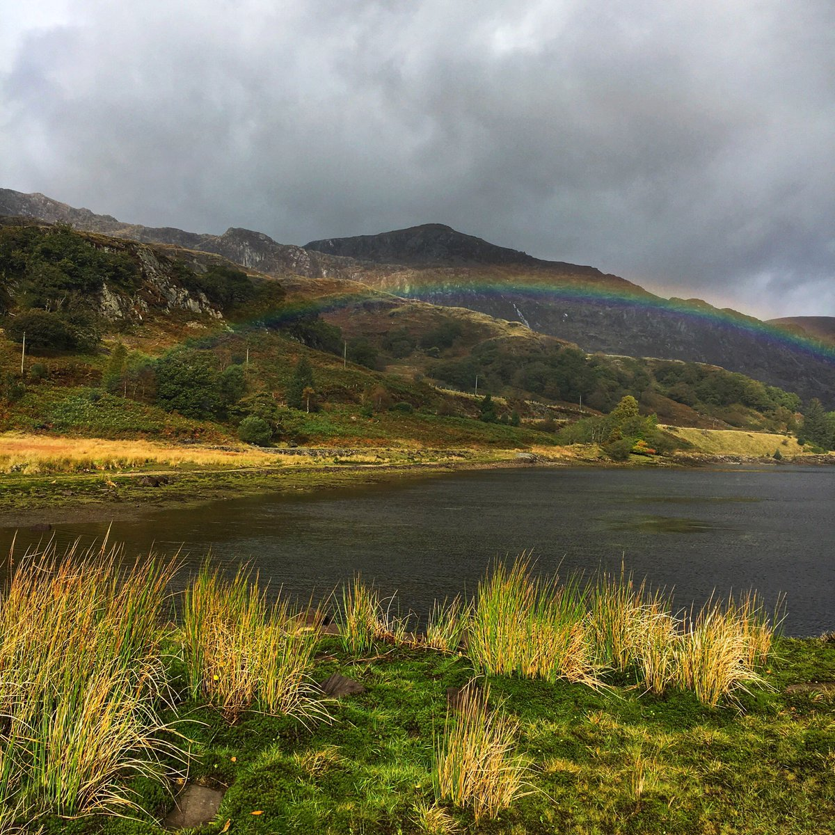 Had to get up very early on this cold dark morning, so I'll cheer myself up with my picture of a rainbow in Snowdonia.