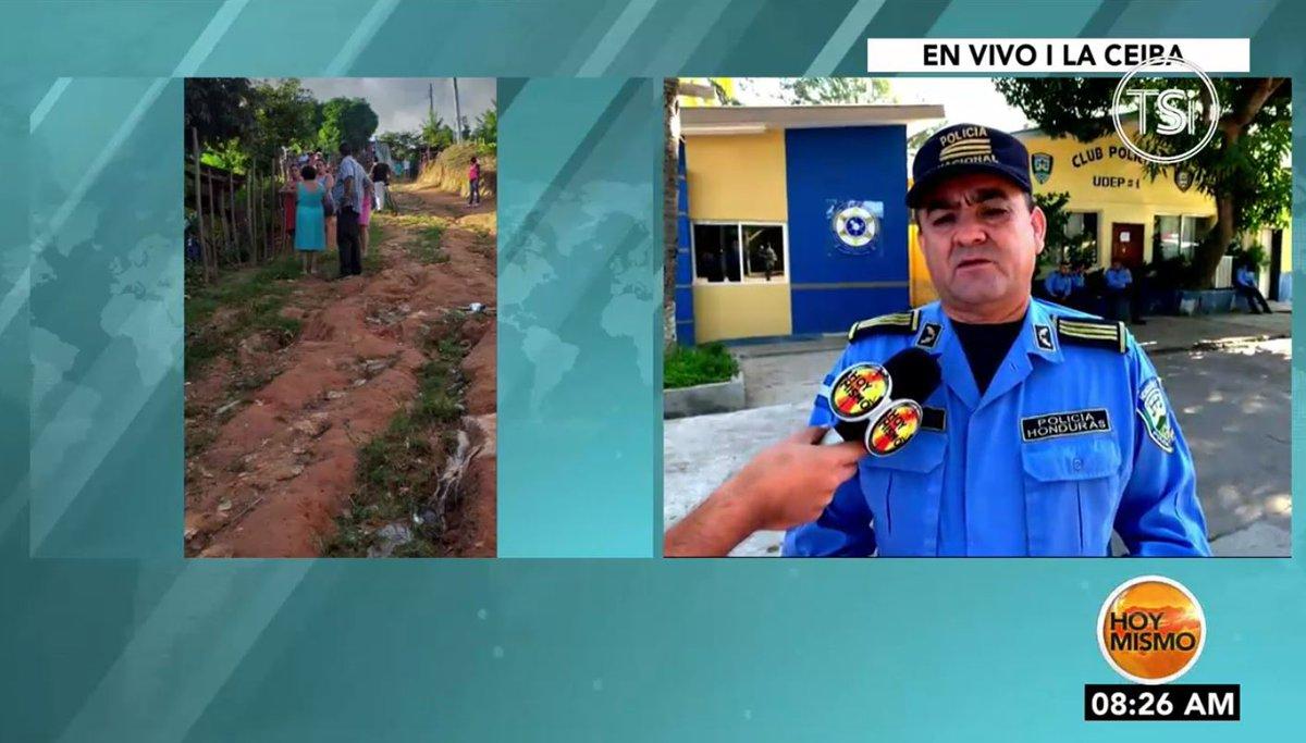[𝗘𝗡 𝗩𝗜𝗩𝗢] 🔴 |En #HoyMismo #PrimeraEdición, se registra la muerte violenta de un hombre en la col. Las Canelas en La Ceiba, Atlántida.