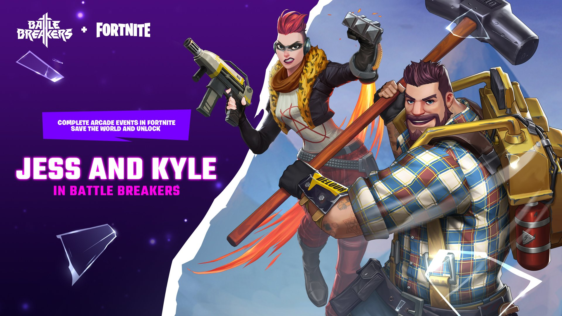 Jess And Kyle From Save The World Are Heading To Battlebreakers