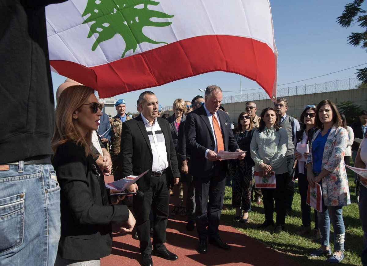 A symbolic event was hosted by the Lebanese National Staff Union and attended by #UNIFIL chief @stefanodelcol, senior mission leadership, @LebarmyOfficial officers, military & civilian peacekeepers to celebrate the 76th Lebanese #IndependenceDay🇱🇧 in UNIFIL HQ #عيد_الاستقلال