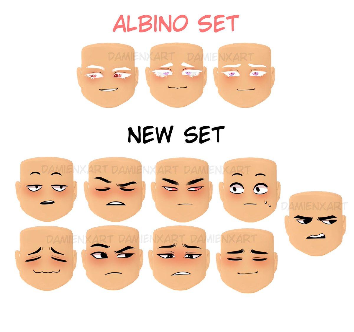 d a m i e n 🐚 on Twitter: New set of boy faces Links below
