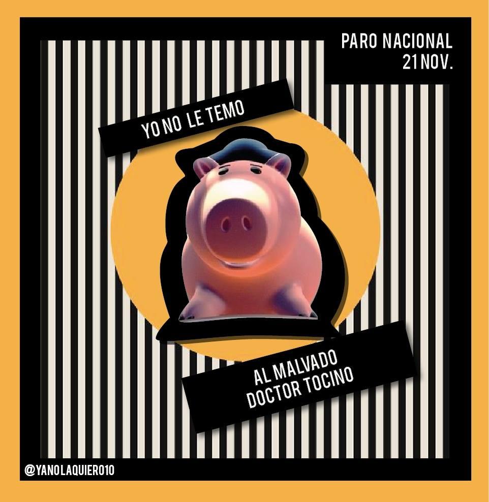 Paro Nacional #21NSomosTodos #ParoNacional21Nov #MarchaenPaz #ESMAD  #YoParoEl21NSinMiedo