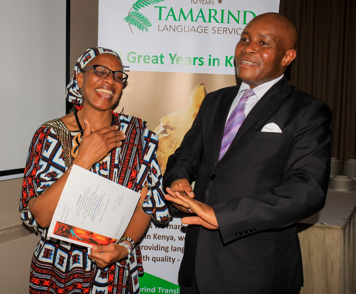 In the spirit of celebration, jubilation and anniversaries, Claire Mukhwana, who is one of our pioneer members, got lucky and won a dinner for two at Tamarind Tree Hotel. The celebration was to mark #TamarindTranslations' 10th anniversary & the #InternationalTranslationDay2019. https://t.co/2DbTN0Z4IW