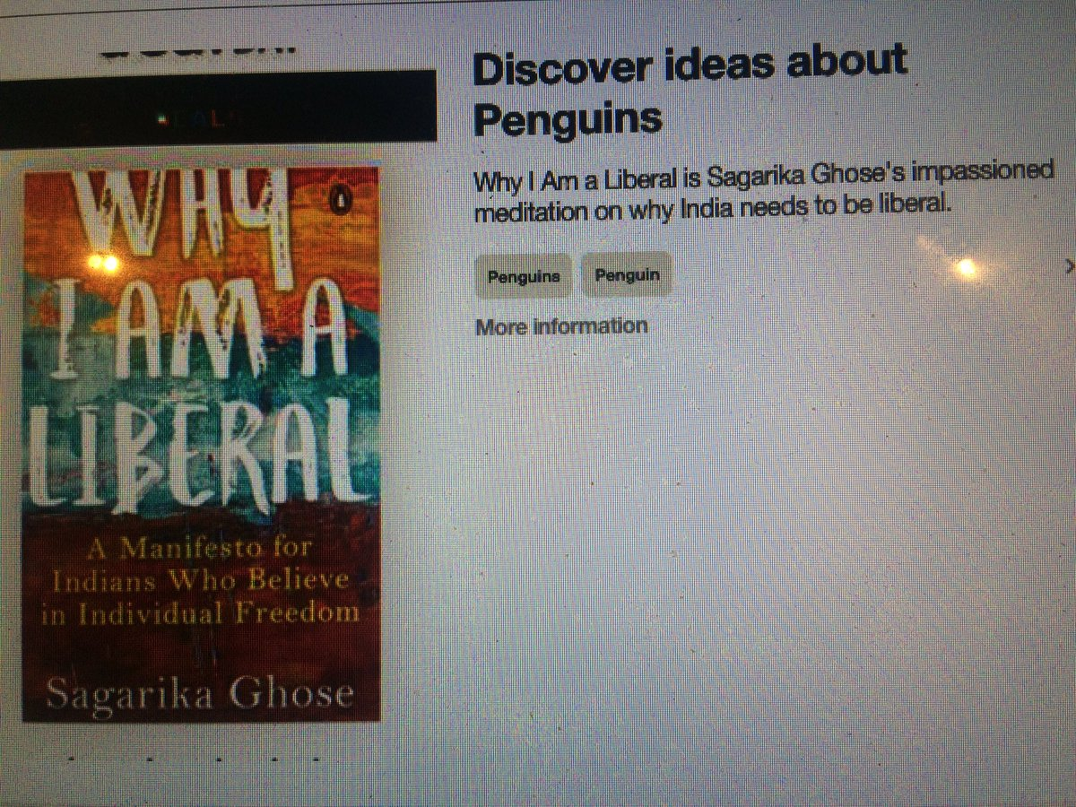 """My book #WhyIAmALiberal described as an """"impassioned meditation on why India needs to be liberal """" @PenguinIndia"""