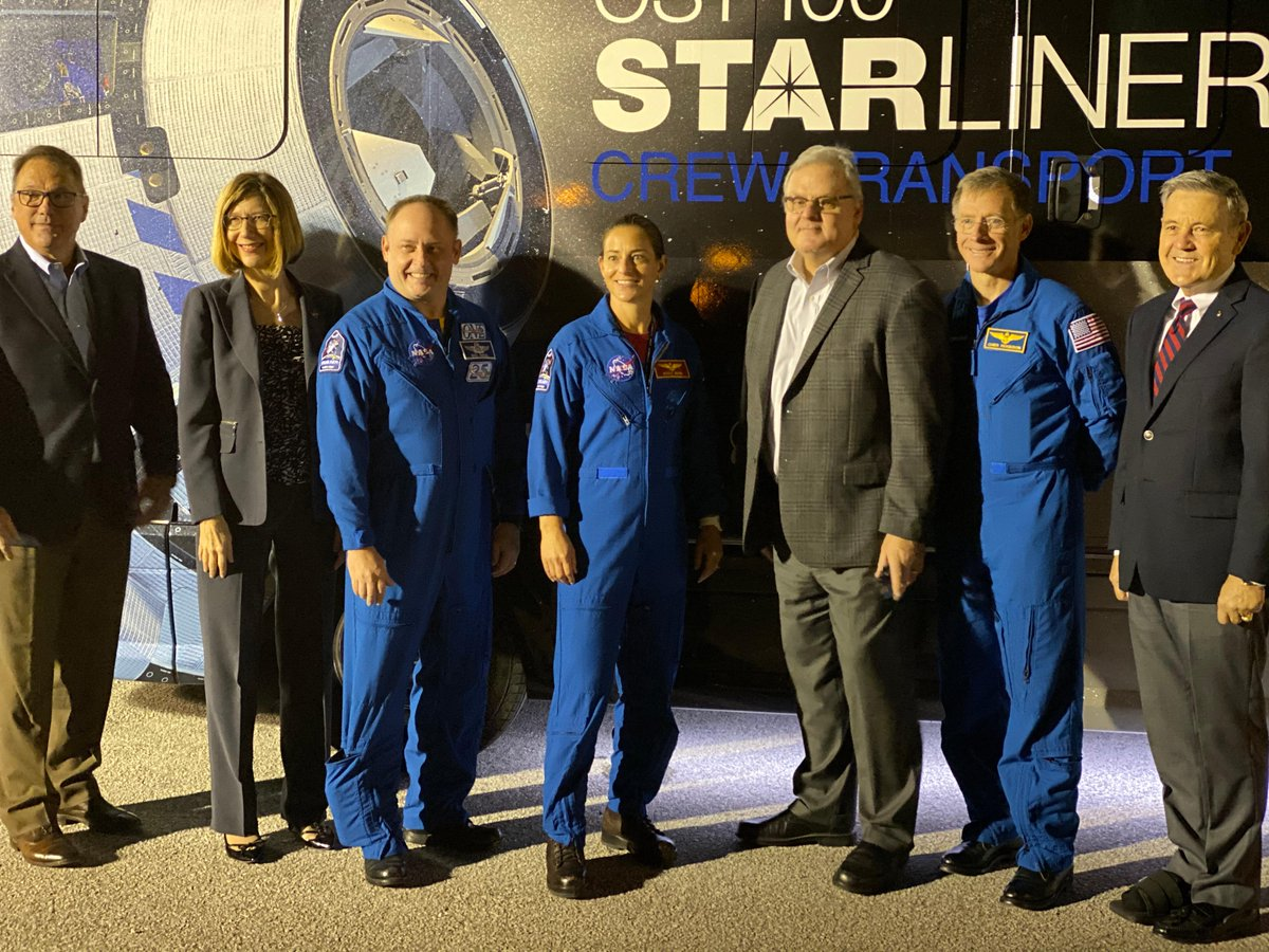 #Starliner's @Commercial_Crew astronaut team is rolling up to rollout with @Astro_Ferg in the @Airstream_Inc Crew Transport Vehicle, lovingly known as the Astrovan II.