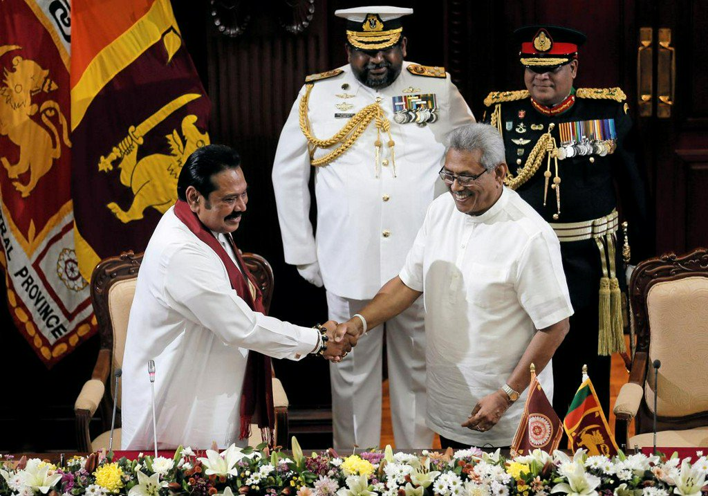 Sri Lanka's ruling siblings: New president swears in his brother as PM
