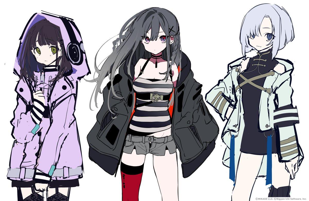 メインヒロインのナナ、ユイコ、ミソラですCVはナナ:斎藤千和さんユイコ:悠木碧さんミソラ:ななひらさんです 3人ともお気に入りです#クリミナルガールズX