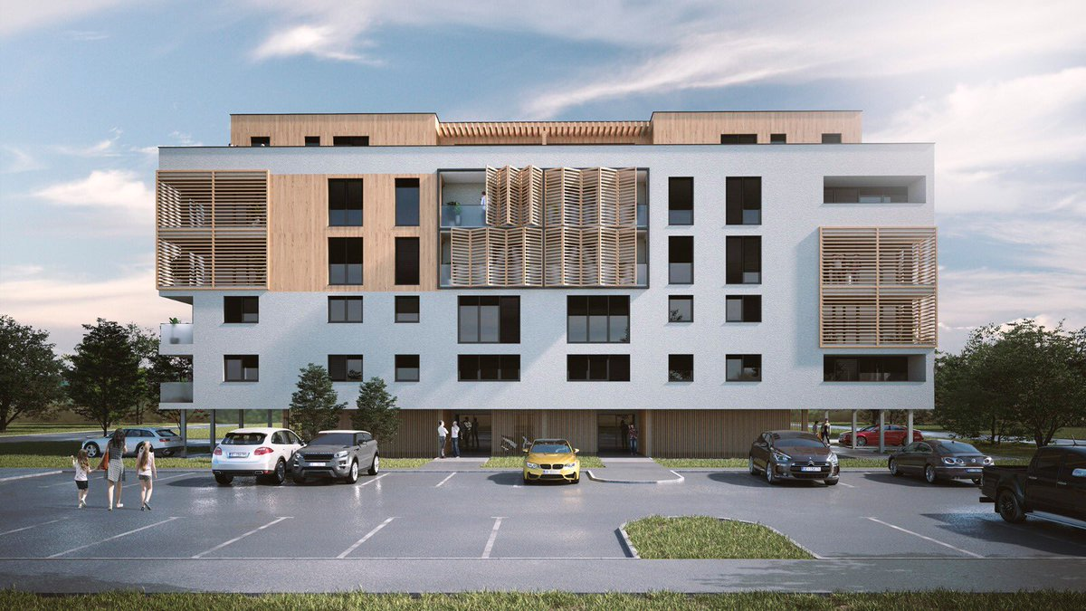 Project of a residential building in the vicinity of Zagreb with 26 apartments spread over 5 floors with a total gross area of 2.600 m2.