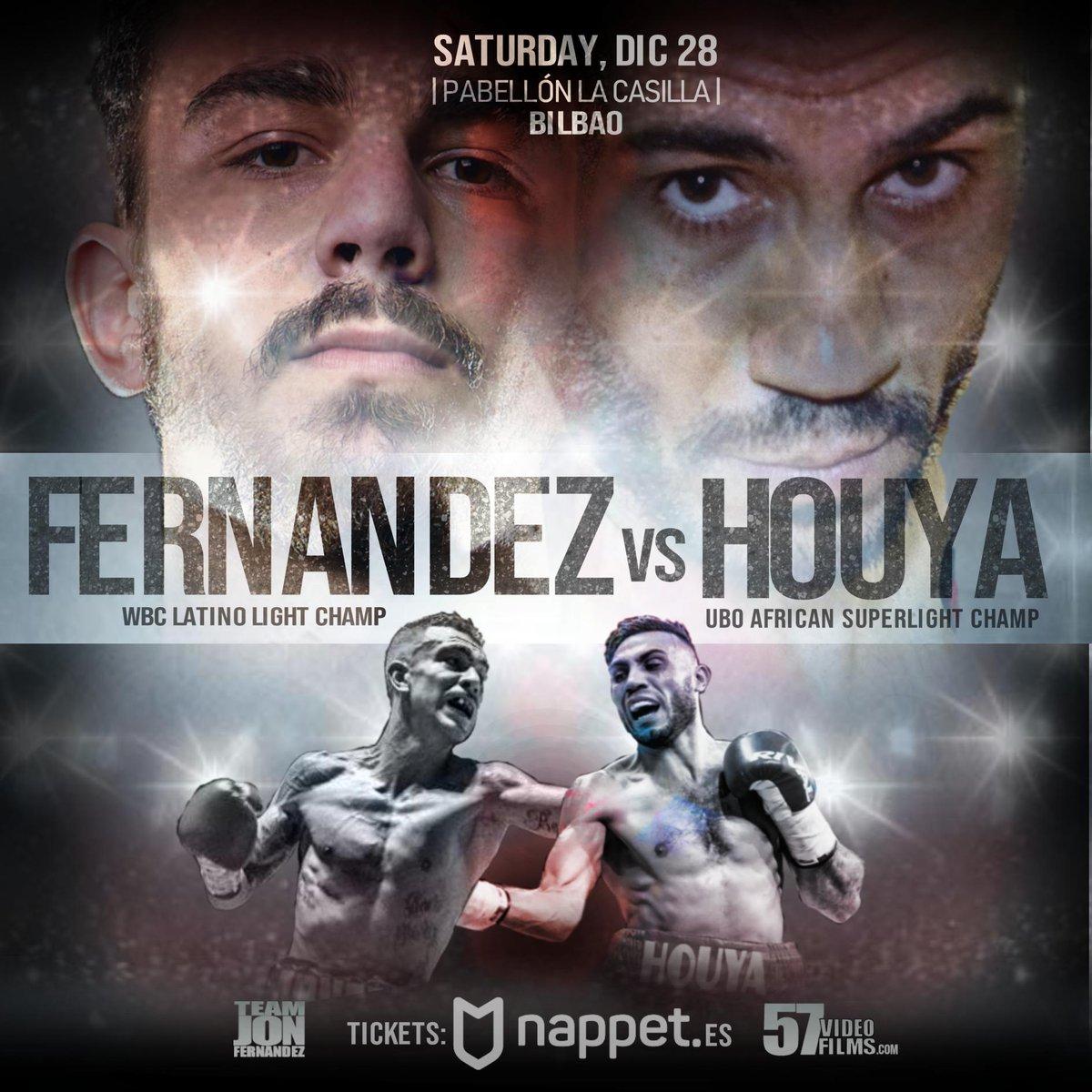 #Boxeo  #K1  #LaCasilla  #Bilbao  #Diciembre28  Además de #JonferHouya  y #MendozaSantana  ....  ENTRADAS A LA VENTA YA EN  https://www.nappet.es/evento-promotor/na/245  … A SOLO 20 € LAS QUE COSTARÁN 30€ TAQUILLA.