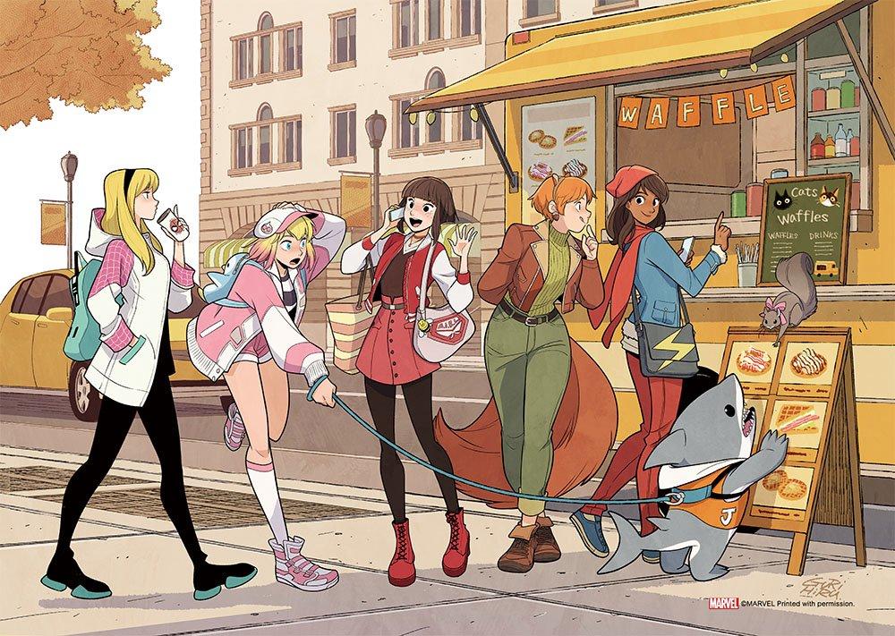 【お知らせ】NEW Print launching at Tokyo ComicCon, this week.マーベルガールズの描き下ろしA3プリント、24日の東京コミコンに持っていきます。グリヒルは24日(日)のみの参加ですのでご注意ください。アーティストアレイ「M-001」でお待ちしております!